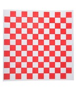 Checkered Deli Basket Liner, 12 X 12 Inches, Red and White, 100 Count - $6.00