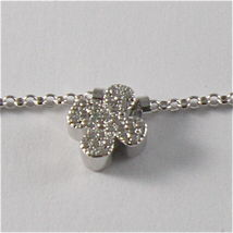 925 RHODIUM SILVER JACK&CO NECKLACE WITH FOUR LEAF CLOVER PENDANT MADE IN ITALY image 8