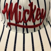 Mickey Disney Parks White Blue Stripes Baseball Cap Hat One Size Stretch - $23.76