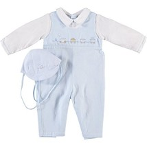 Baby Boy's Blue Train Longall and Hat 6M - $56.36