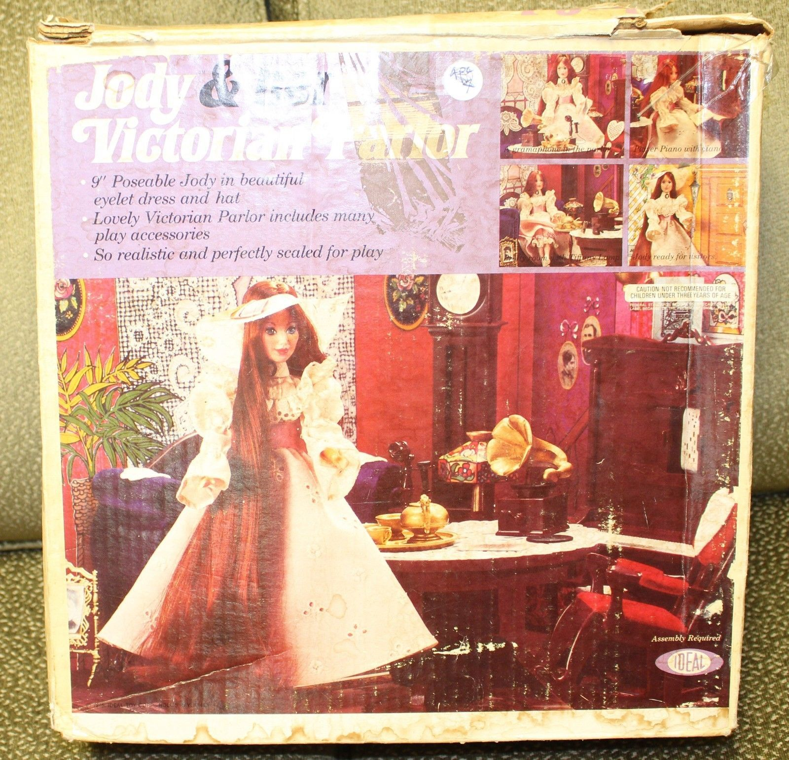 Primary image for Vintage 1975 IDEAL Jody's Victorian Parlor Box Playset W/ Doll Jody