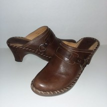 Frye brown leather clogs size 9m - $44.55