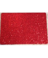 "Robert Stanley Home For Christmas Red Glitter Placemat 17"" x 12"" Set of 4 - $18.76"