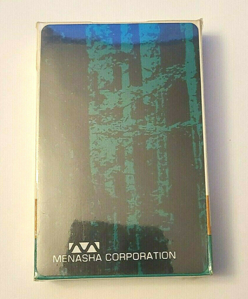 Vintage Deck of Menasha Corporation Wisconsin Advertising Playing Cards
