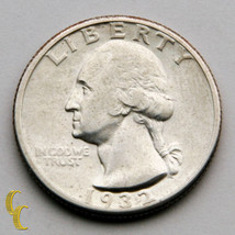 1932-D Washington Silver Quarter 25c (About Uncirculated, AU Condition) - $371.25