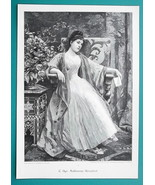 YOUNG MAIDEN  In Love Bad News Letter Disappointed - VICTORIAN Era Print - $16.20