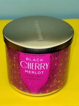 Bath & Body Works Black Cherry Merlot Scented Jar Essential Oil Candle 14.5 - $34.64