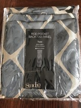 New Rod Pocket Back Tab Panel Curtain 50x84 Twist Dark Slate Gray Blue Studio - $15.09