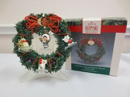 Hallmark 4 Miniature Ornaments Frosty Friends Set with Memory Wreath 199... - $15.00