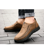 Men Casual Shoes Loafers Sneakers 2019 New Fashion Handmade Retro Leisur... - $36.09
