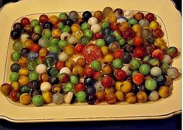 Group of 170 Marbles in Wine Glass with 1 Shooter AA18 - 1175M Vintage image 8