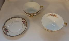 Nippon Lot 3 Pieces 2 Cups 1 Saucer Paisley Floreal Grasmere - Patterns Vintage - $5.50