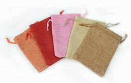 Drawstring Burlap Bags 7x5 in. Packing Pouches 9 Colors Wedding Bracelet... - $19.80