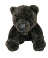 Gund Black Bear Plush Stuffed Animal Teddy Vintage Mouth Open - $20.45