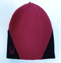 Spyder Mulberry & Black Knit Beanie Womens One Size NWT - $37.12