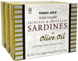 Skinless & Boneless Sardines in Olive Oil, 3 Pack, 3.75 oz Tin - Trader Joe's image 4