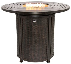 "OUTDOOR PATIO 50"" ROUND BAR HEIGHT FIRE TABLE - SERIES 4000 - $2,970.00"