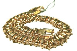 WOMENS PURE 925 SILVER BRACELET REAL GOLD POLISH GENUINE EXCELLENT ORIGI... - $65.00