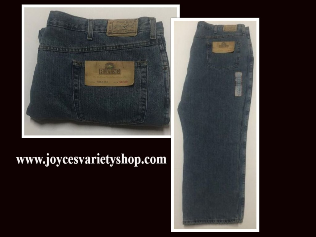 Red Head Relaxed Men's Blue Jeans Sz 48/30 Medium Stone Wash