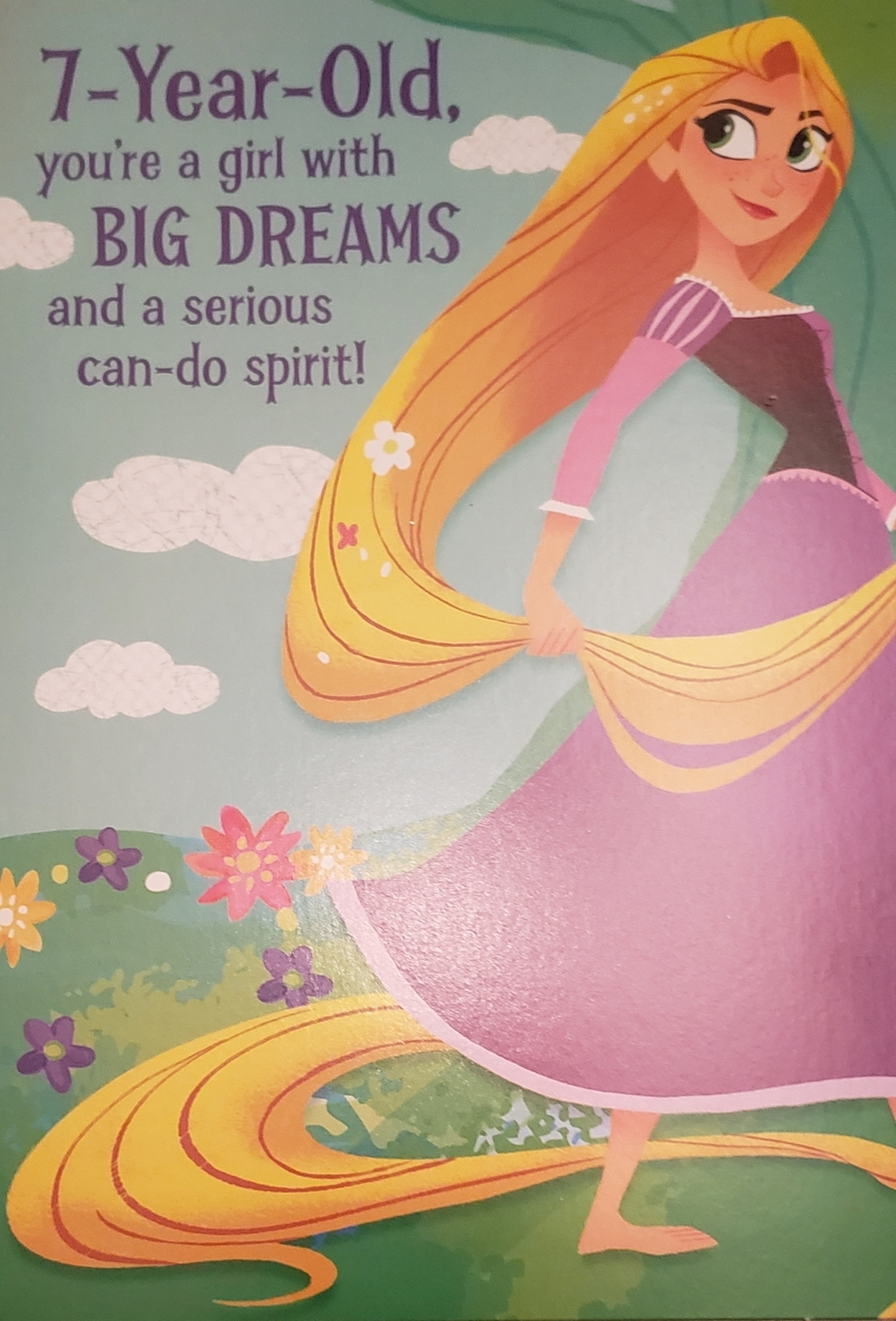 Disney Tangled Kids Birthday Card (Greeting Card for a 7 Year-Old) circa 2017 - $5.00