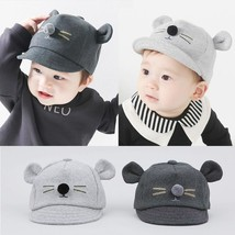 Kids Beanies Thick Cotton Spring Summer Hat Warm Cat Cap Hat Cartoon Dec... - $5.09