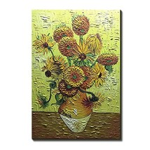 Amei Art Paintings,24x36Inch Sunflowers Van Gogh Famous Oil Painting Rep... - $66.97