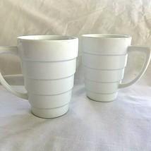 2 Frank Lloyd Wright Guggenheim Henriksen White Coffee Tea Cup Mug Mugli... - $44.54