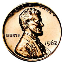 1962 Lincoln Memorial Cent Penny Gem Proof Mint Coin No Mint Mark Uncirc... - $7.99