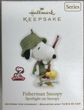 2012 Hallmark Keepsake Ornament Fisherman Snoopy Spotlight On Snoopy #15... - $15.95