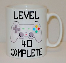 Level 40 Complete 40th Birthday Mug Can Personalise Video Game Retro Gam... - $9.78