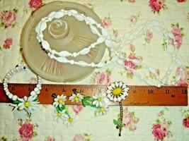 VTG GERMANY MILK GLASS DAISY NECKLACE PIN BRACELET EARRING CUT ART GLASS... - $467.99