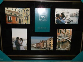 Melannco 2 Picture Frame Set: Six Opening Frame & Four Opening Black Col... - $496,20 MXN