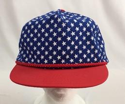 Nissin AMERICAN FLAG Adjustable StrapBack Ball Cap 4th Of July - $8.59