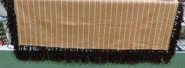 "Native American Wool Shawl Loose Weave Brown Gold Red Fringe 58""x 42"" Small - $79.99"