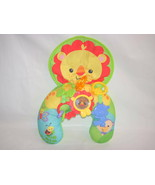 2012 FISHER PRICE PLAYTIME COZY FIT TUMMY WEDGE LION PILLOW - $10.89