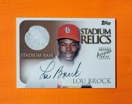 2000 Topps Stadium Autograph Relics #SR7 Lou Brock Base - $80.00
