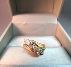14K Yellow Gold Diamond Marquise Ring 1 CTTW 3.93 Grams Size 6.5 IK Ital... - $494.99
