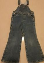 Tommy Hilfiger Blue Jean  Bib Overalls Child Size 6 Denim Carpenter Flag Logo - $28.70