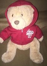 Aeropostale Aero A87 Teddy Bear Beige Tan Stuffed Plush with Red Hoodie ... - $9.99