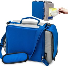 Insulated Lunch Bag With Water Bottle Holder,Wipe, Lunch Box Keeps Hot o... - $23.99