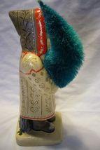 Vaillancourt Folk Art , Large White  Coat Father Christmas signed by Judi image 4