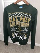 Cal Poly San Luis Obispo Ugly Christmas Sweatshirt Adult XS CPSLO Green Champion - $99.89