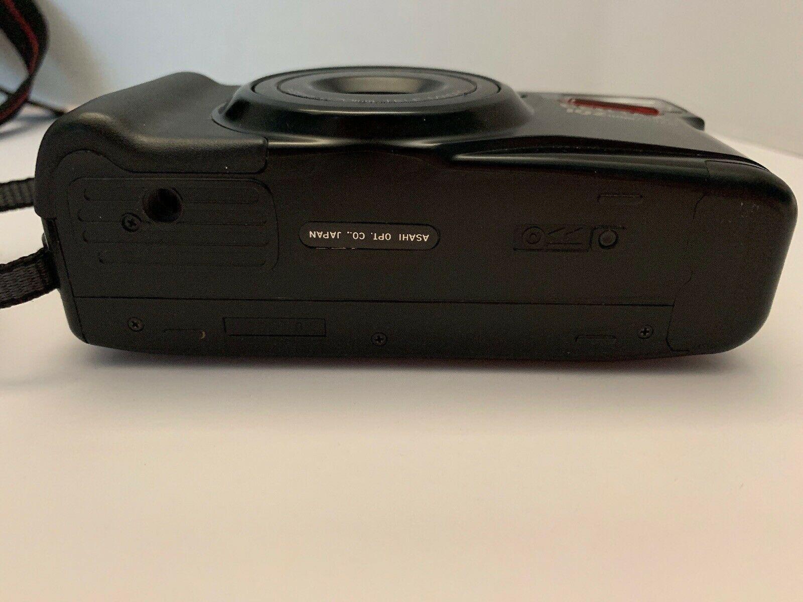 Vintage Pentax IQ Zoom 700 35mm Film Camera 35-70mm Lens With Pentax Case Black
