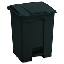 Safco Products 9923BL Plastic Step-On Trash Can, 23-Gallon, Black - $69.34
