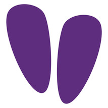 LiteMark Purple Alien Footprint Decal Stickers - Pack of 12 - $19.95