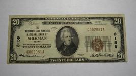 $20 1929 Sherman Texas TX National Currency Bank Note Bill! Ch. #3159 RARE! - $252.44