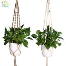 Vintage Garden Home Decoration Flower Plant Basket Flowerpot Macrame Rope New - $6.81+