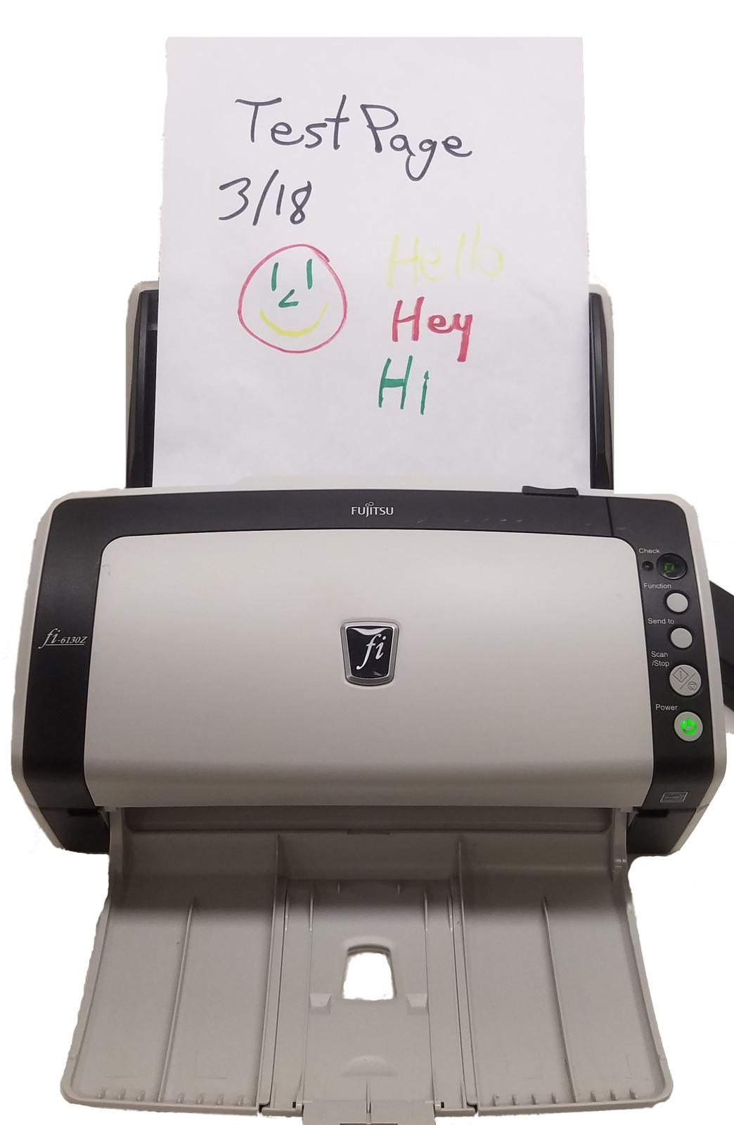 Fujitsu fi-6130Z Color Duplex Scanner With A/C Adapter Bin:1