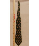 Bill Blass Black Label Mens Imported Silk Tie in Green Stripes With Gold... - $11.87