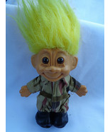 Vintage 1990's Russ Soldier Camouflage Outfit Yellow Hair Troll Doll - a... - $5.89